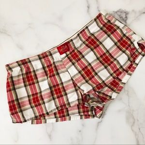 Abercrombie & Fitch red plaid boxer sleep shorts
